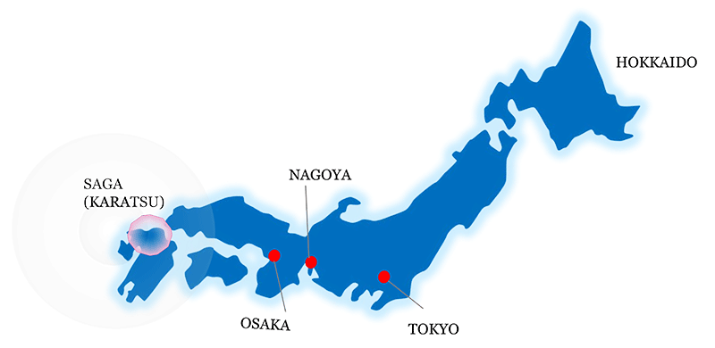 Karatsu city attraction guide japan cosmetic center map of japan gumiabroncs Images